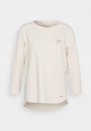 BASIC - Long sleeved top - creme beige melange