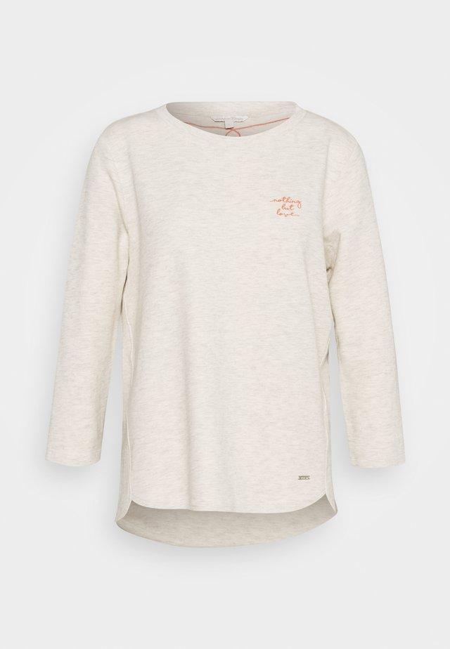 BASIC - T-shirt à manches longues - creme beige melange