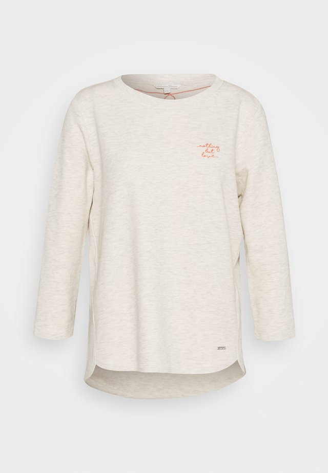 BASIC - Camiseta de manga larga - creme beige melange