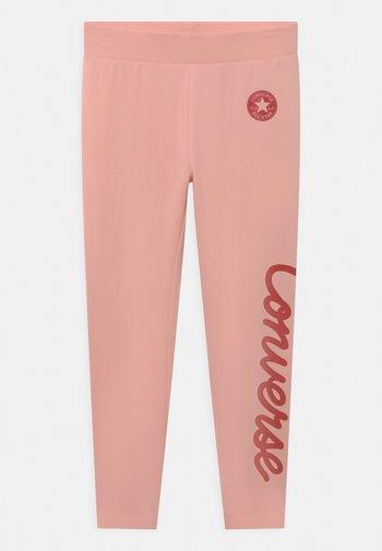 CHUCK TAYLOR SCRIPT SHINE - Leggings - storm pink