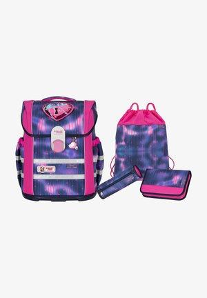 SET 4 - Schooltas set - neon pink