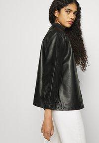 Selected Femme - SLFVERA  O NECK JACKET - Leather jacket - black - 3