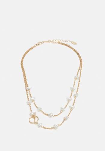 BAR CHIPPING BEAD NECKLACE - Necklace - gold-coloured