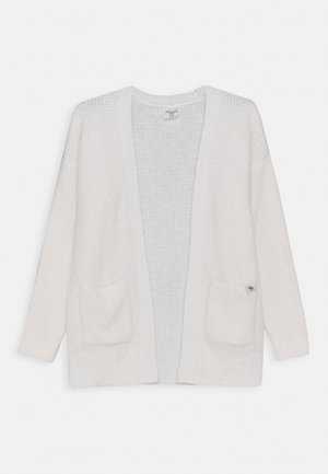 LONG FUZZY - Cardigan - white