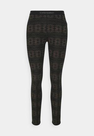 VERTEX CRYSTALLINE - Leggings - Trousers - black/mink