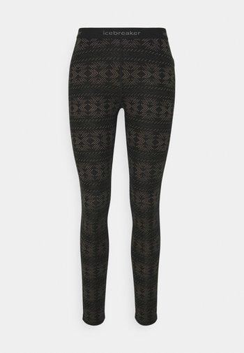 VERTEX CRYSTALLINE - Leggings - black/mink