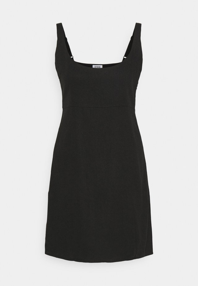 LIBBY STRAPPY MINI DRESS - Day dress - black