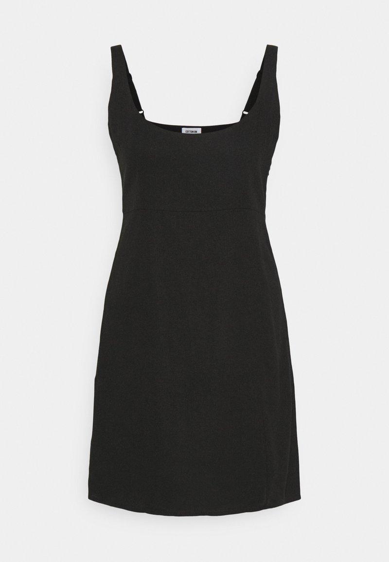 Cotton On - LIBBY STRAPPY MINI DRESS - Etuikjole - black