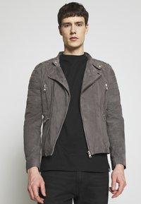 Serge Pariente - GLADATOR - Leather jacket - grey - 0