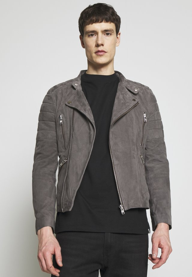 GLADATOR SUEDE - Leather jacket - grey