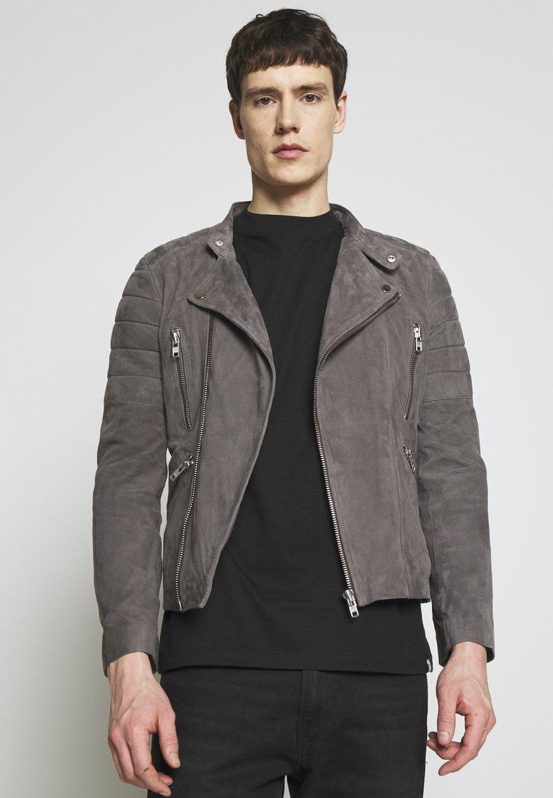 Serge Pariente - GLADATOR - Leather jacket - grey