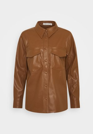 KAREN  - Button-down blouse - brown