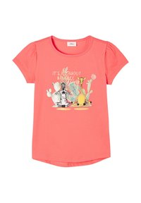 s.Oliver - Print T-shirt - coral - 2