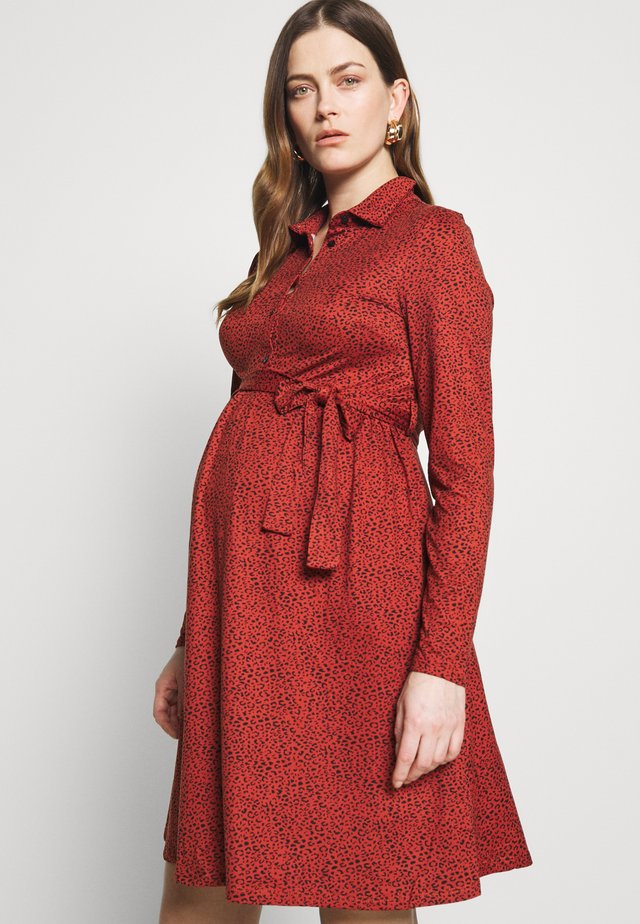 DRESS PRINT - Sukienka z dżerseju - black/red