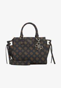 Guess - DIGITAL STATUS SATCHEL - Handbag - brown - 2