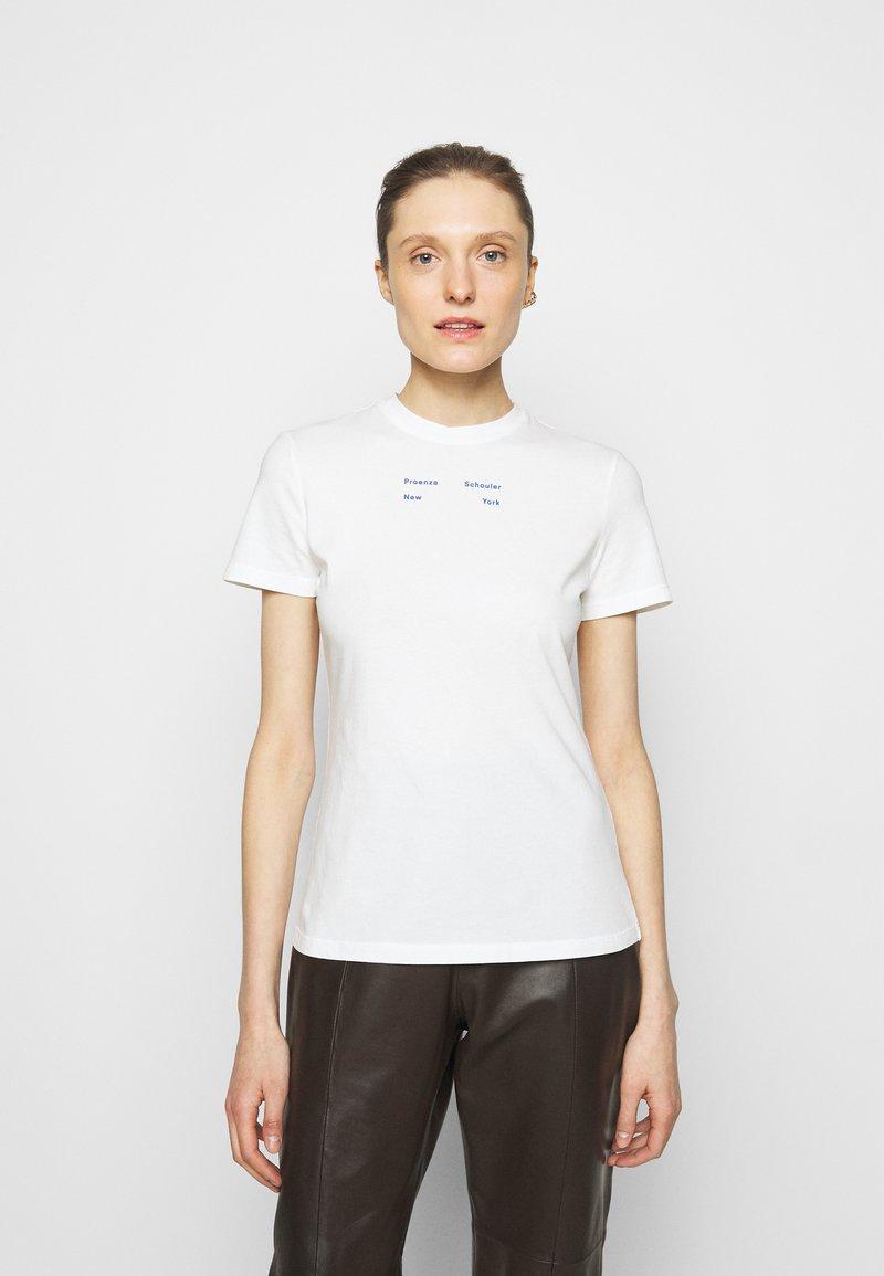Proenza Schouler White Label - SOLID STRETCH - Printtipaita - off white