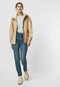 Vero Moda - Zip-up sweatshirt - beige mottled beige - 1
