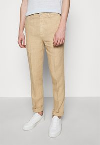 120% Lino - TROUSERS - Kalhoty - cookie - 0