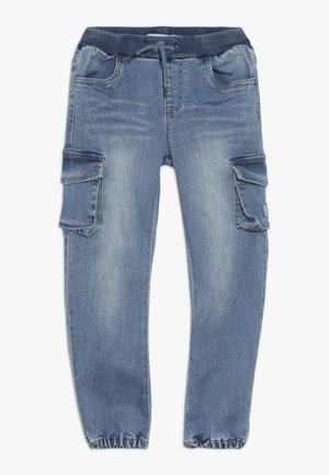 NMMBOB  - Pantalones cargo - light blue denim
