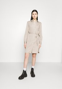 Vila - VIBISTA BELT DRESS - Denim dress - simply taupe - 0