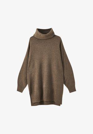Jumper dress - mottled light brown