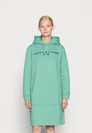 REGULAR HILFIGER HOODIE DRESS - Day dress - frosted evergreen