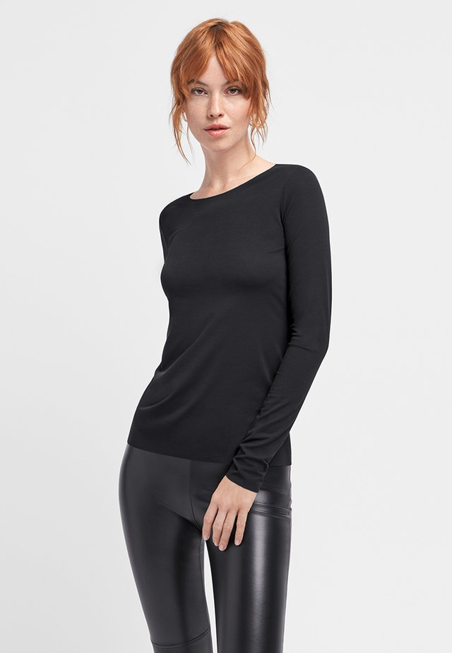 AURORA PURE  - Long sleeved top - black
