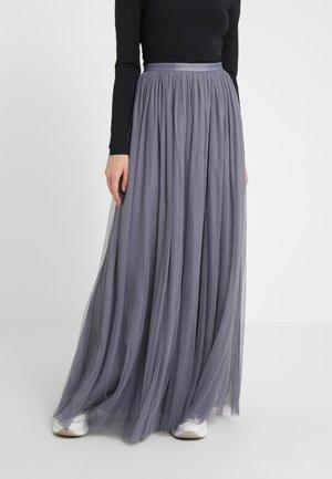 DOTTED MAXI SKIRT - Plisovaná sukně - thistle blue