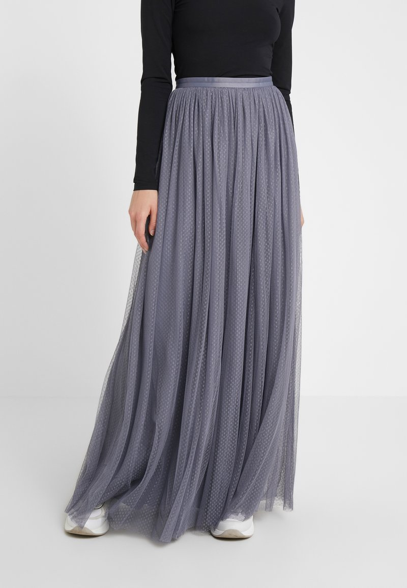 Needle & Thread - DOTTED MAXI SKIRT - Plisséskjørt - thistle blue
