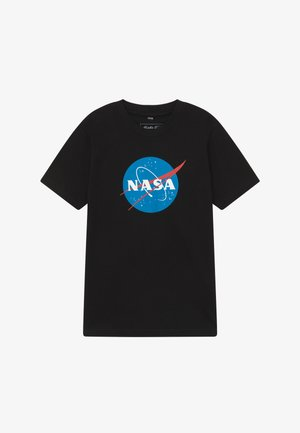 KIDS NASA INSIGNIA TEE - T-shirt z nadrukiem - black