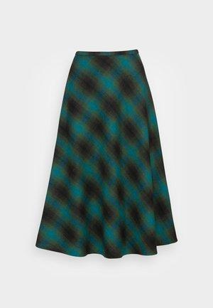 JUNO SKIRT CORNWALL CHECK - Áčková sukně - pine green