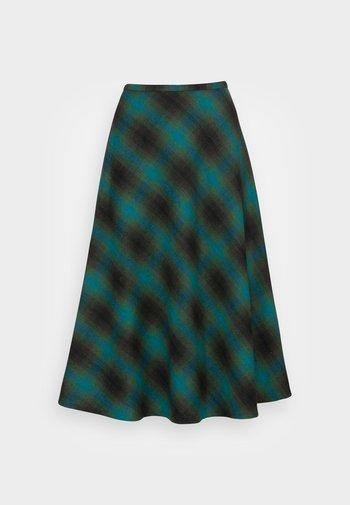 JUNO SKIRT CORNWALL CHECK - A-line skirt - pine green