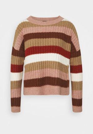 Jersey de punto - soft caramel/multicolor