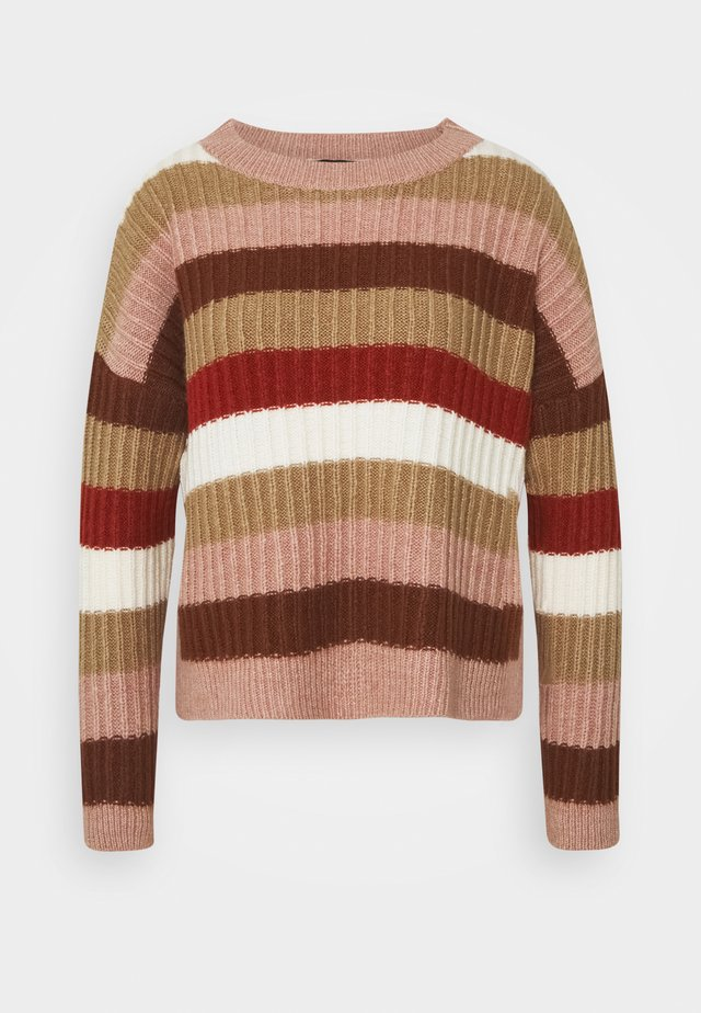 Pullover - soft caramel/multicolor