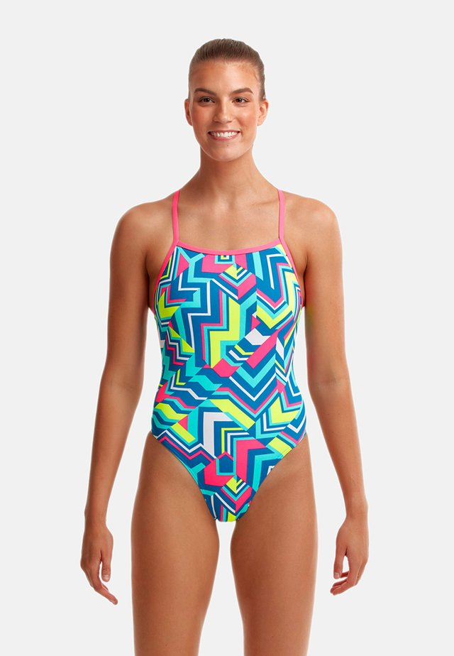 TIE ME TIGHT - Swimsuit - cut lines