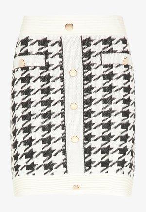 A-line skirt - weiss schwarz