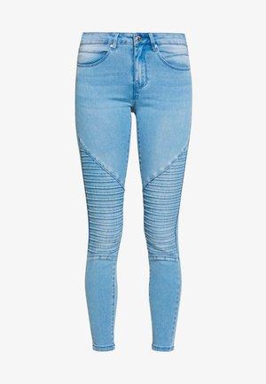 ONLROYAL REG BIKER - Jeans Skinny Fit - light blue denim