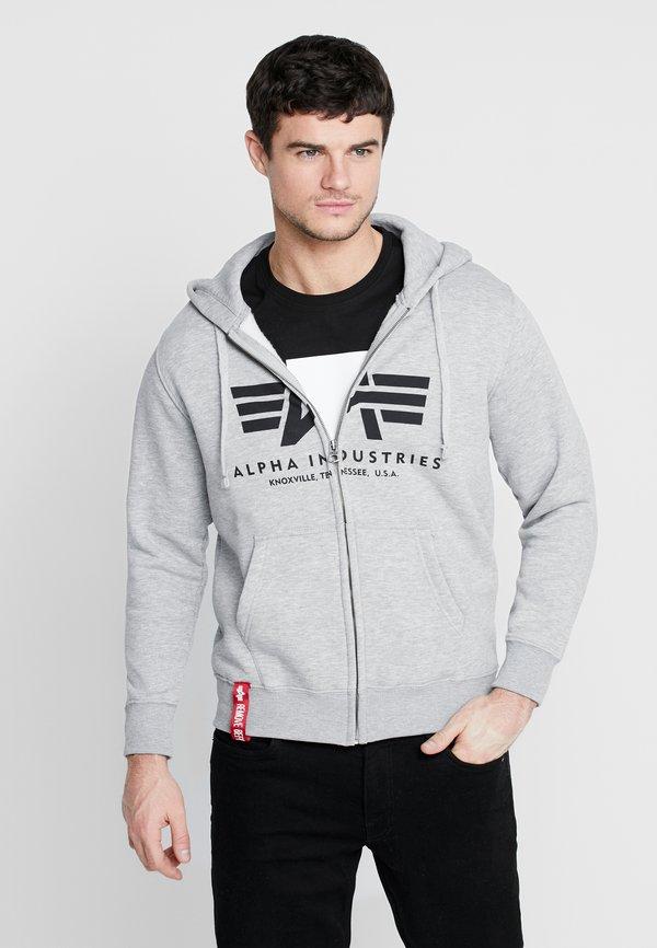 Alpha Industries Bluza rozpinana - greyheather/jasnoszary Odzież Męska TPVR