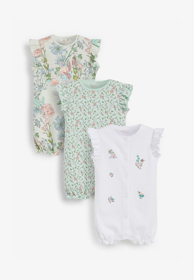 3 PACK - Jumpsuit - green,white