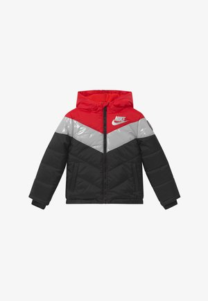 COLOR BLOCK HEAVY PUFFER - Giacca invernale - university red