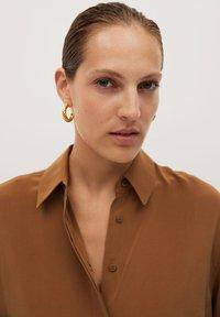 Mango - MADE - Button-down blouse - braun - 6