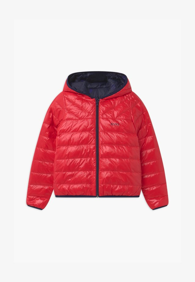 REVERSIBLE PUFFER - Piumino - red/blue navy