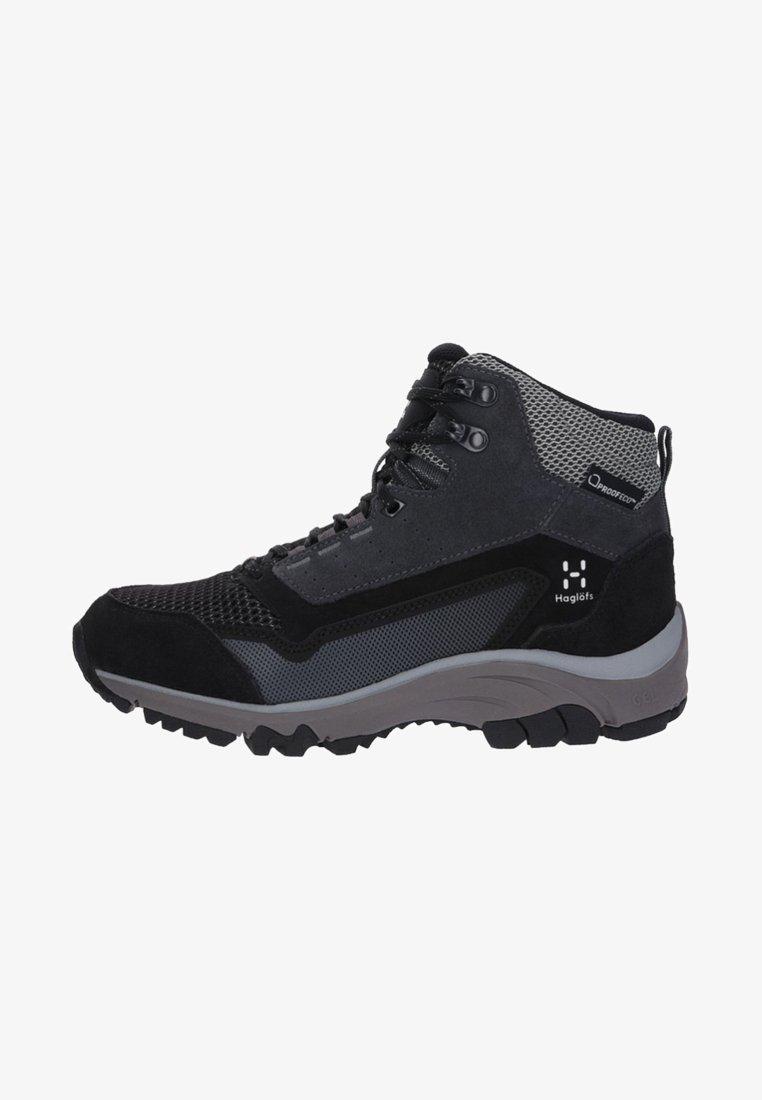 Haglöfs - SKUTA MID PROOF ECO - Hiking shoes - black/grey