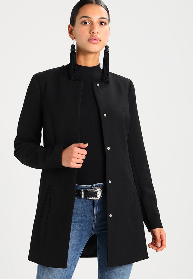 JDYNEW BRIGHTON SPRING COAT - Cappotto corto - black
