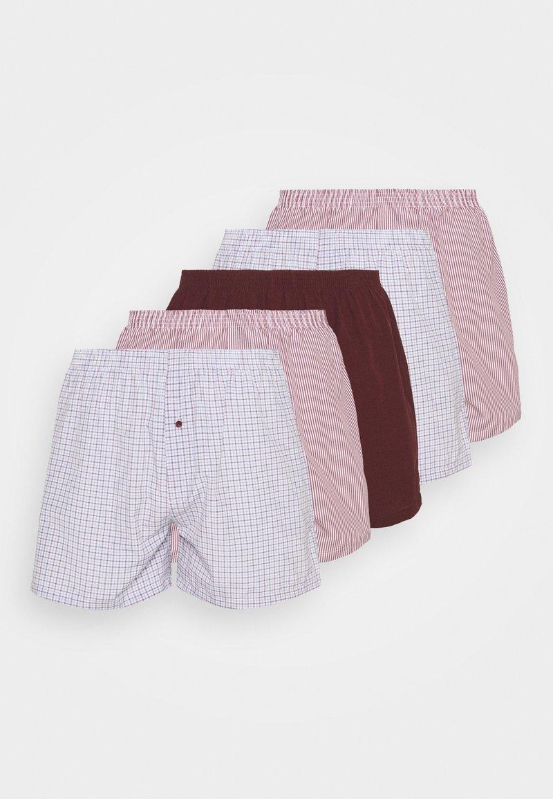 Pier One - 5 PACK - Boxer shorts - bordeaux