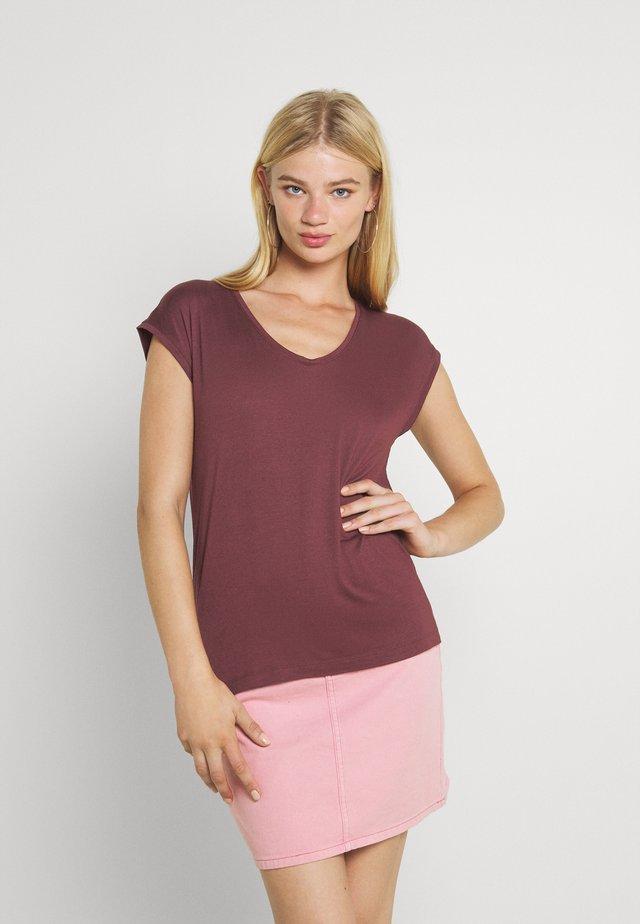 PCBILLO TEE - Basic T-shirt - red mahogany