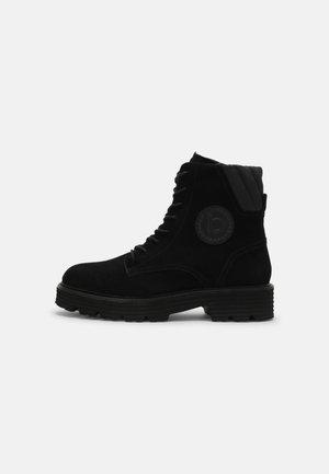 CAROLINA - Lace-up ankle boots - black/black
