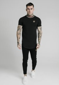 SIKSILK - Print T-shirt - black - 0