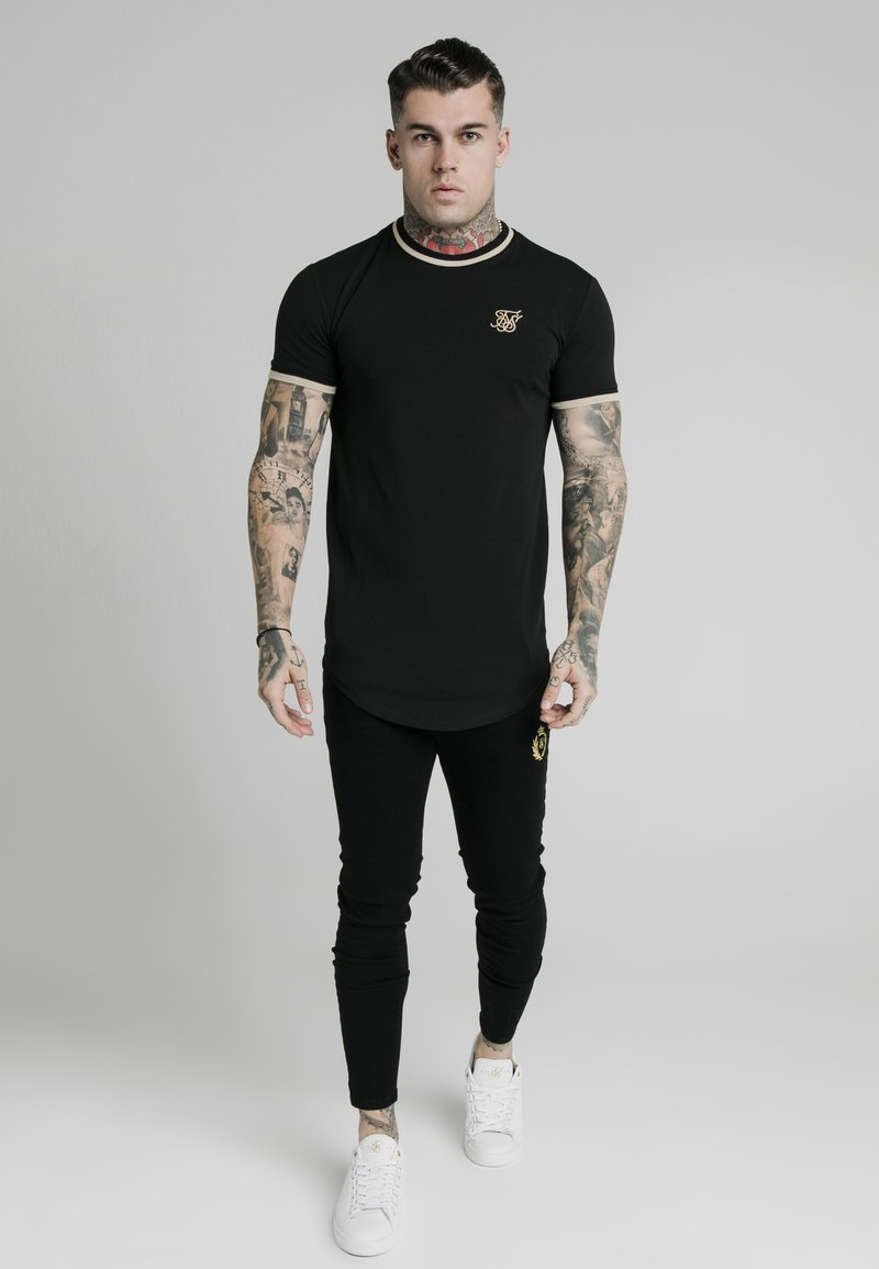SIKSILK - Print T-shirt - black