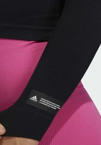 adidas Performance - FORMOTION CROPPED TRAINING TEE - Long sleeved top - black - 3